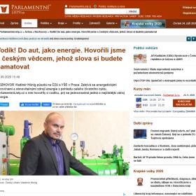 Parlamentní listy uveřejnily rozhovor s doc. Hönigem