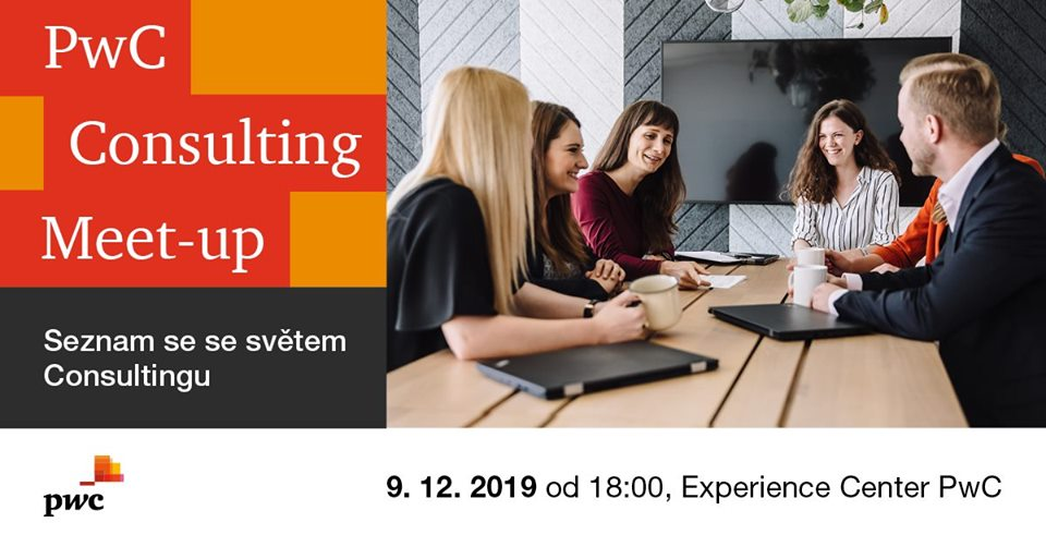PwC Consulting Meetup již 9. prosince!