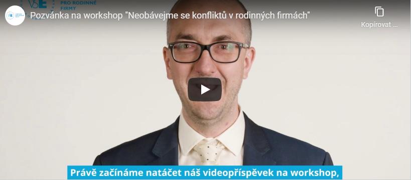 Prof. Jiří Hnilica vás ve speciální videopozvánce zve na workshop!